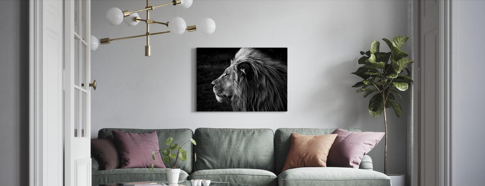 Leijona - Canvastaulu - Olohuone