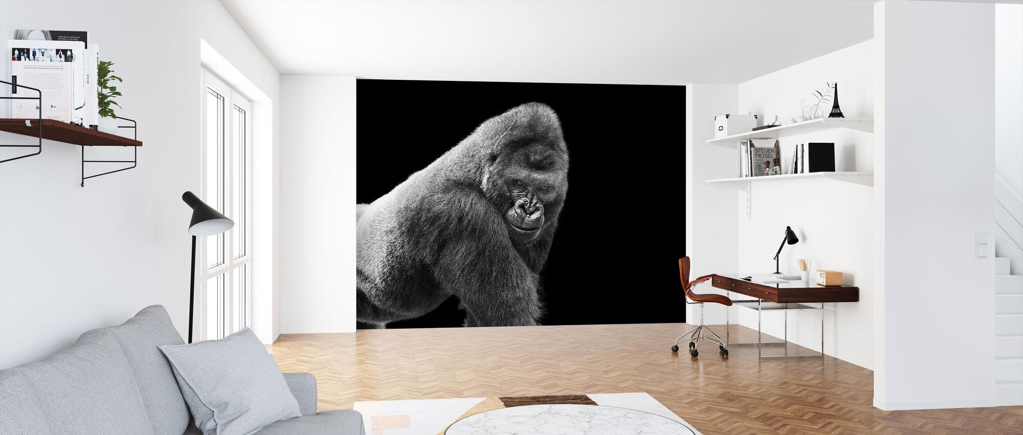 Adult Gorilla - Wallpaper - Office