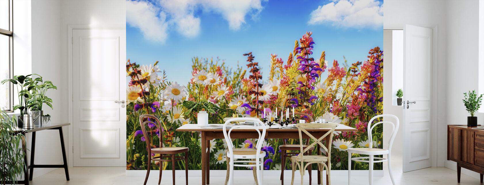 Flowers on a Meadow - Wallpaper - Kitchen