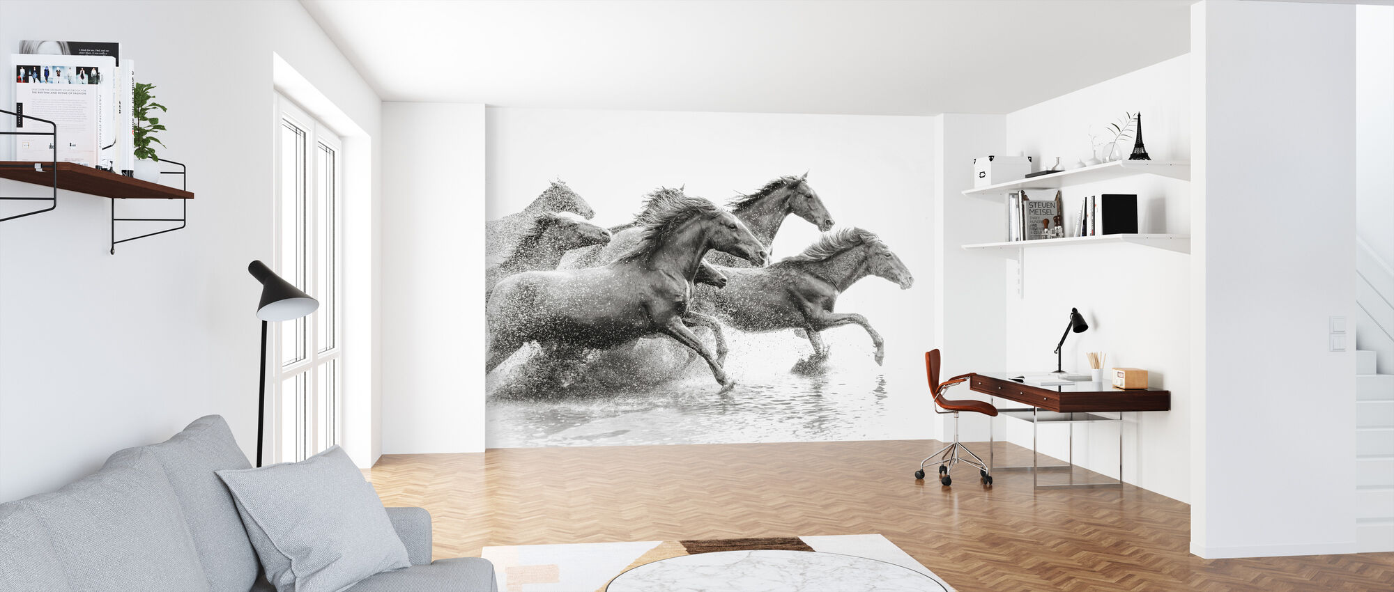 Herd of Wild Horses - Wallpaper - Office