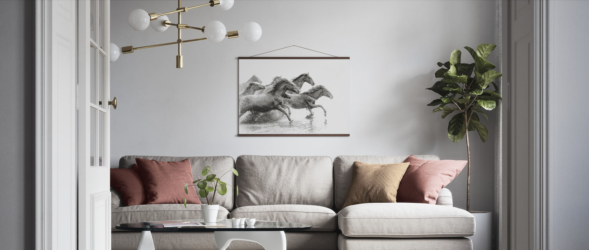 Herd of Wild Horses - Poster - Living Room