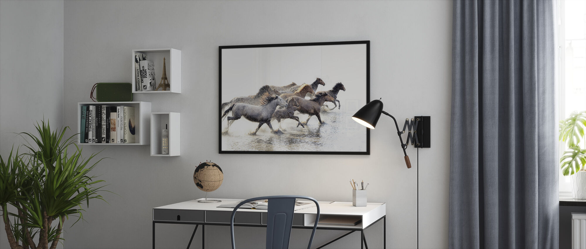 Wild Horses of Anatolia - Framed print - Office