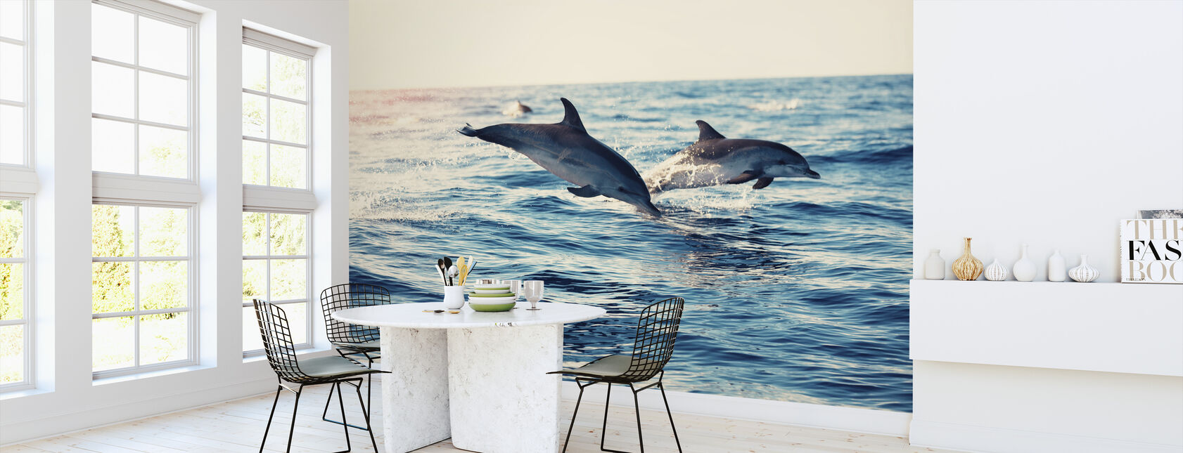 Dolphins Jumping from the Sea - Wallpaper - Kitchen