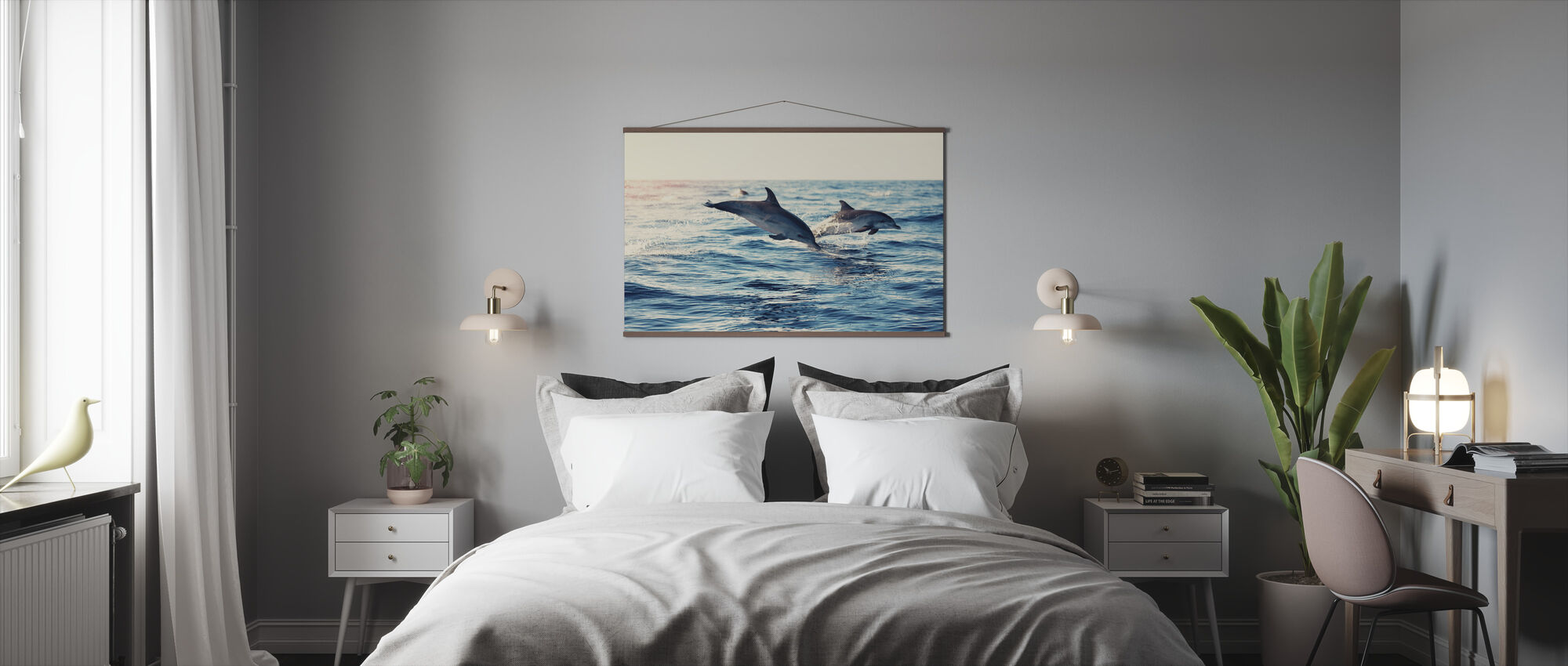 Dolphins Jumping from the Sea - Poster - Bedroom