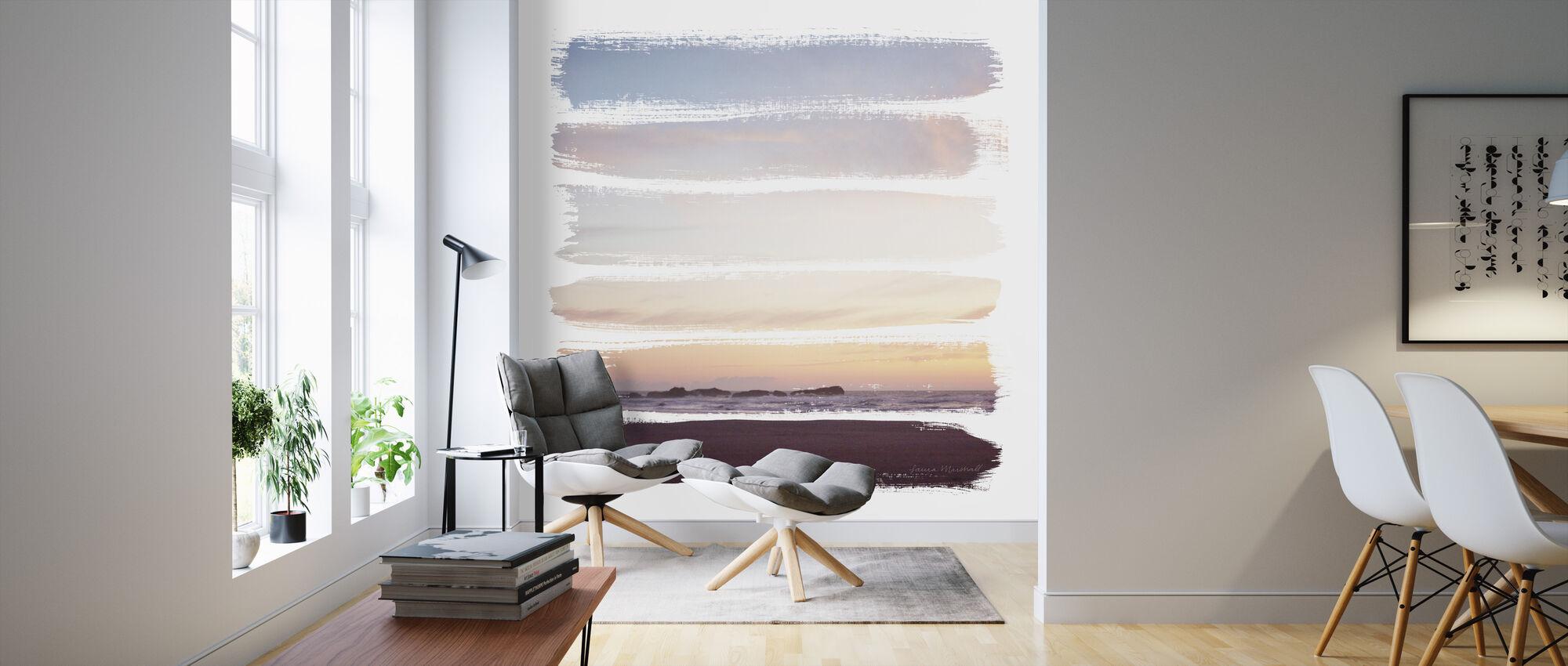 Sunset Stripes - Wallpaper - Living Room