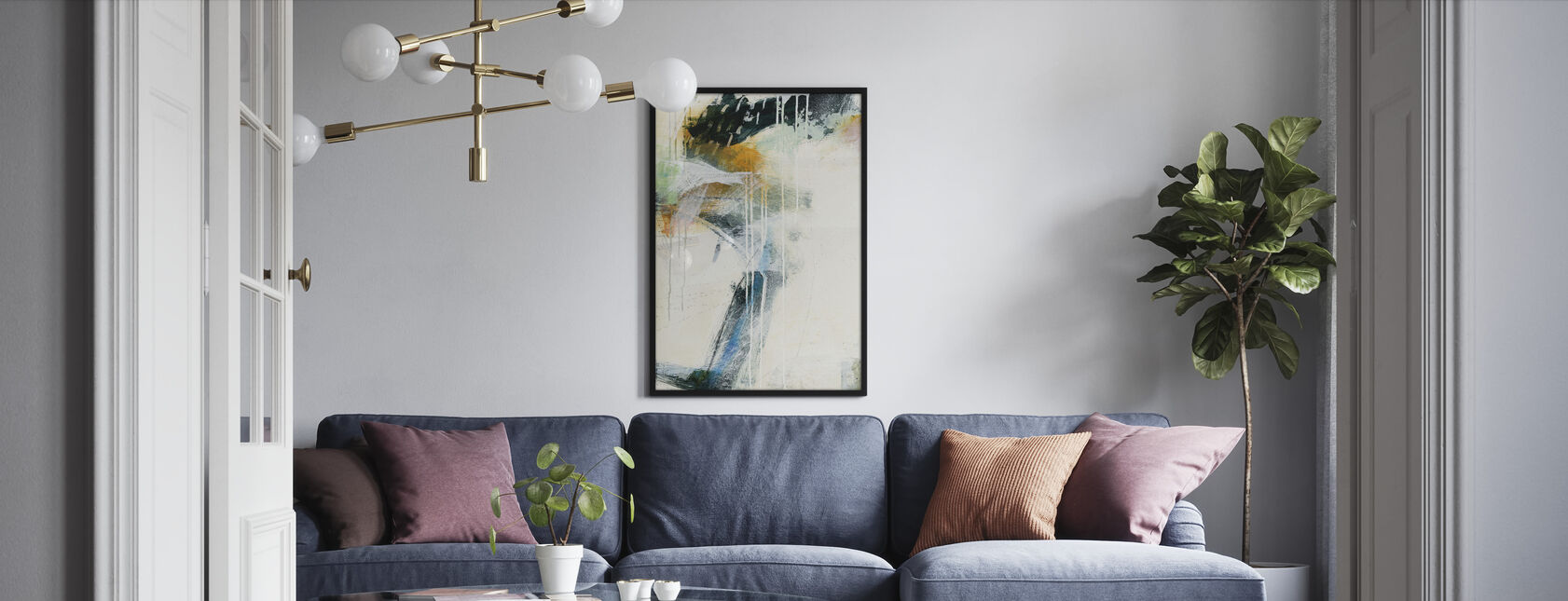 Turbulenz II - Gerahmtes bild - Wohnzimmer