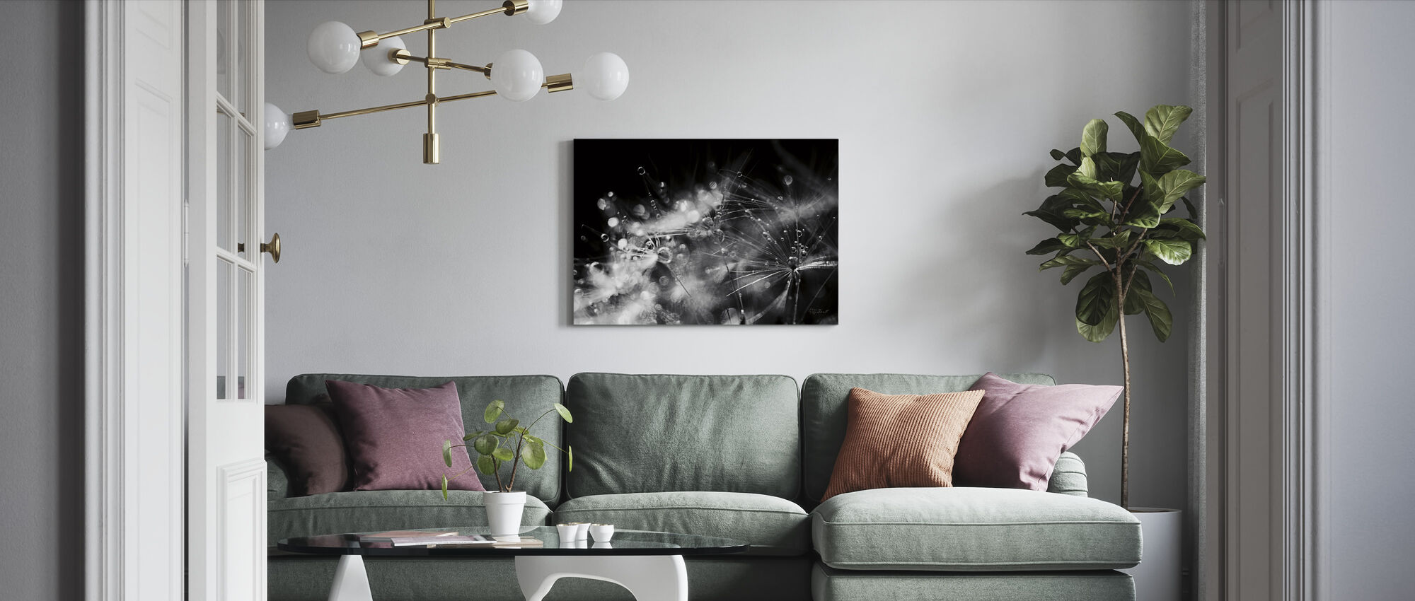 Dandelion Abstract - Canvas print - Living Room