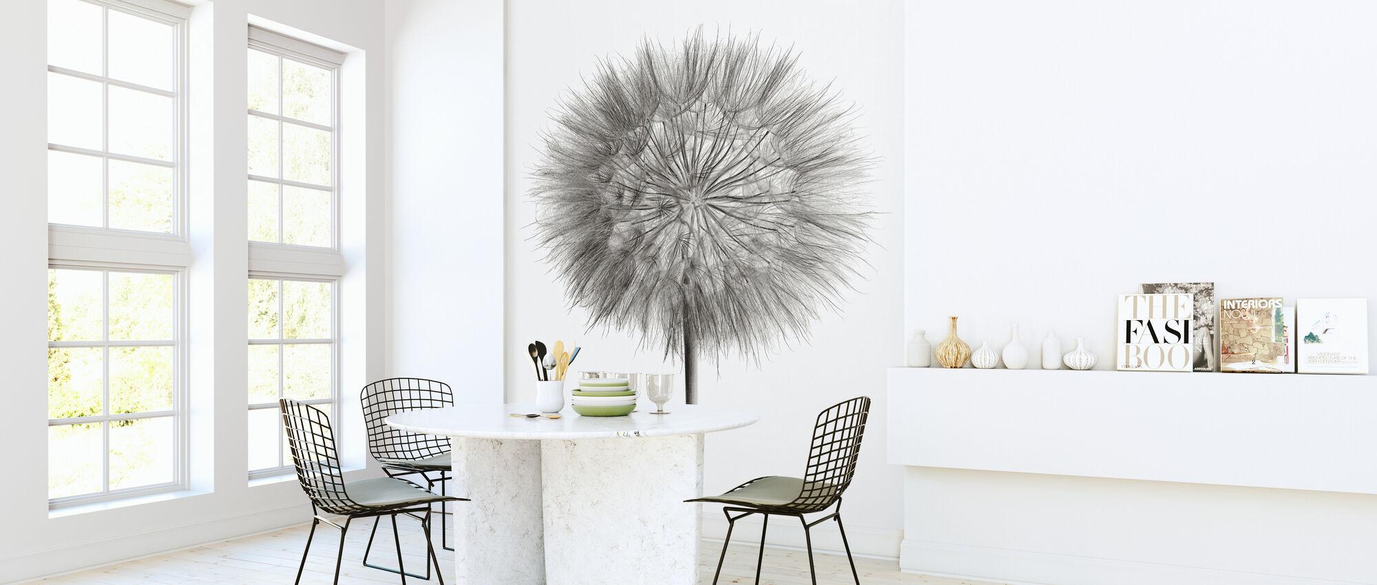 Dandelion Fluff on White - Wallpaper - Kitchen