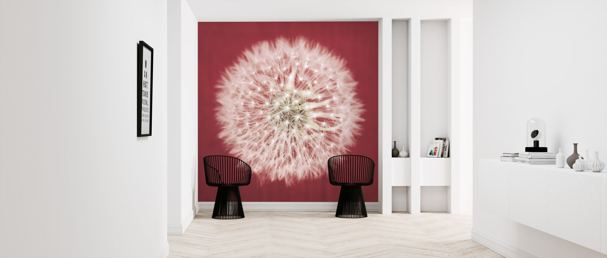 Dandelion on Red - Wallpaper - Hallway