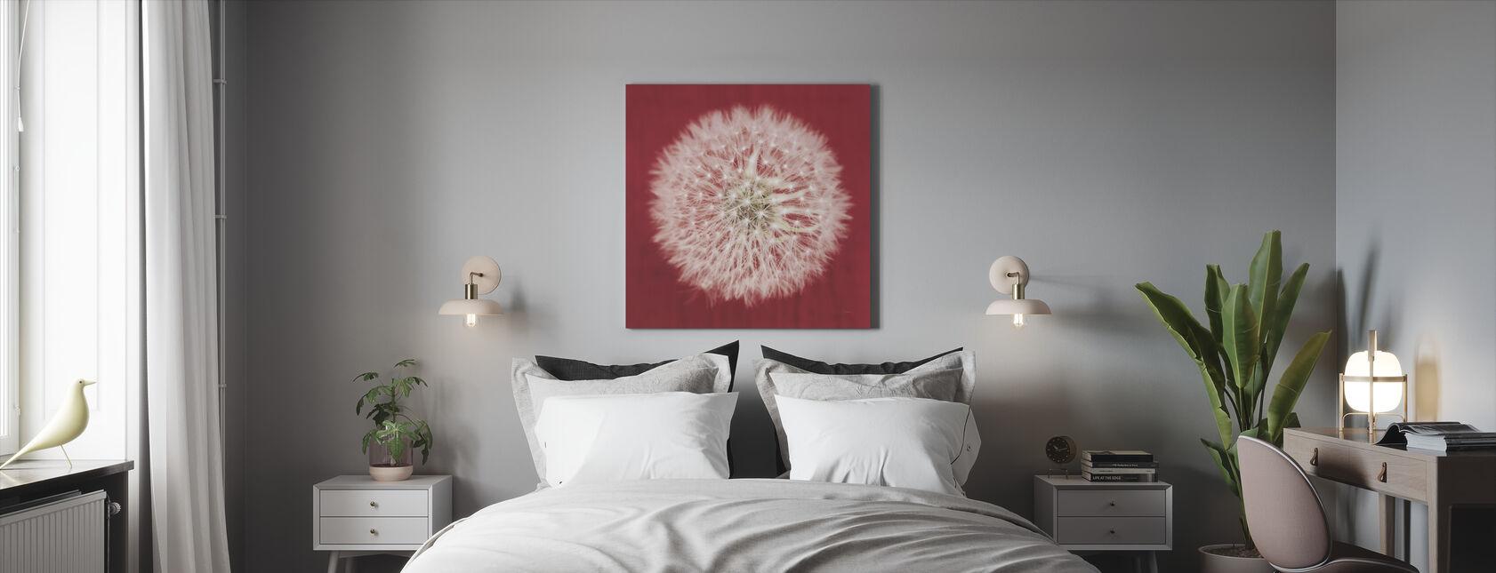 Dandelion on Red - Canvas print - Bedroom