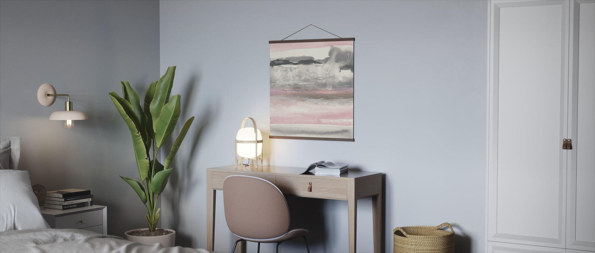 Charcoal and Blush - Poster - Office