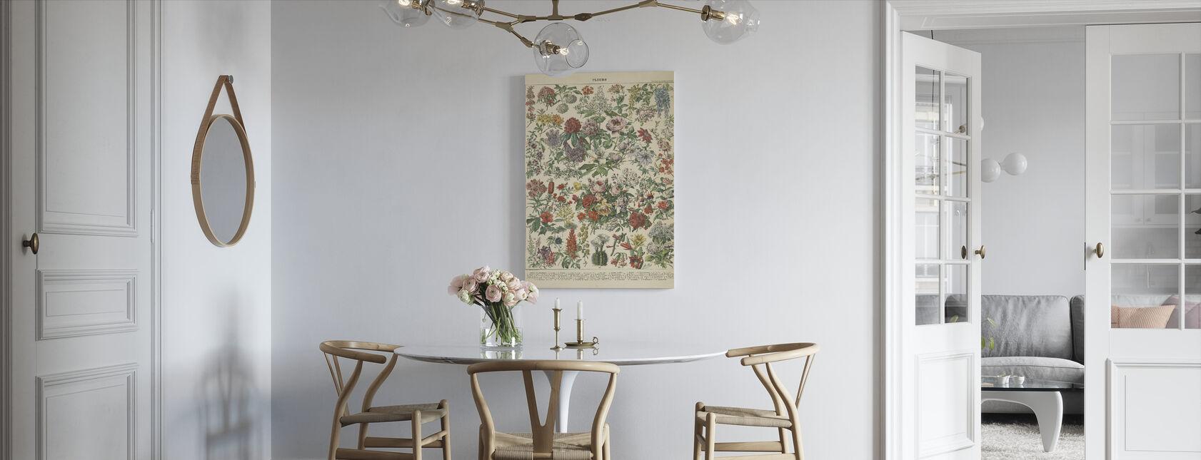 Franse Bloemenkaart - Canvas print - Keuken
