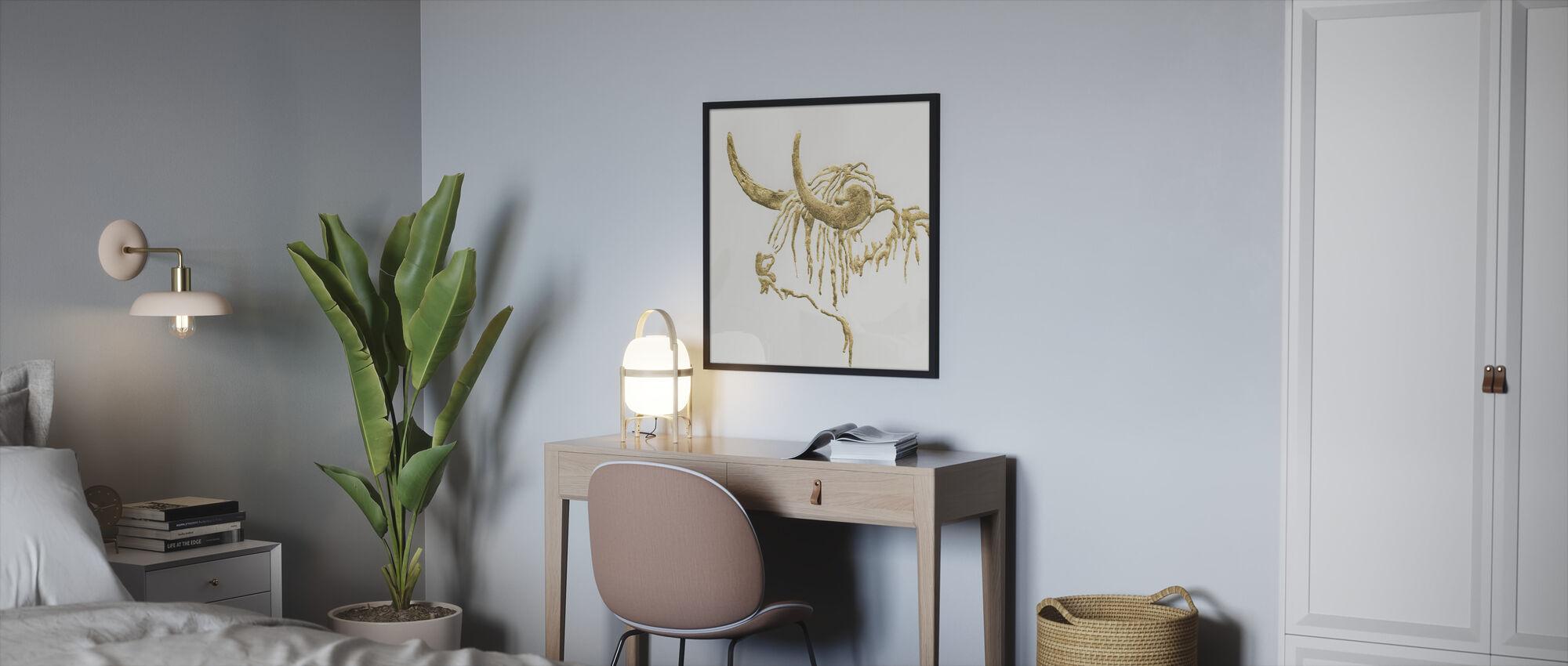 Gilded Highlander - Framed print - Bedroom