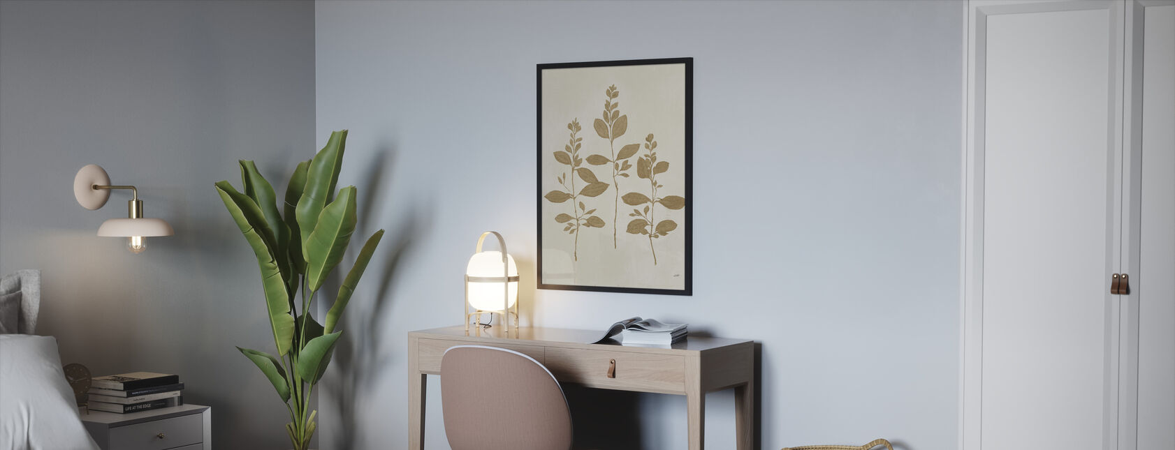 Botanical Study - Framed print - Bedroom