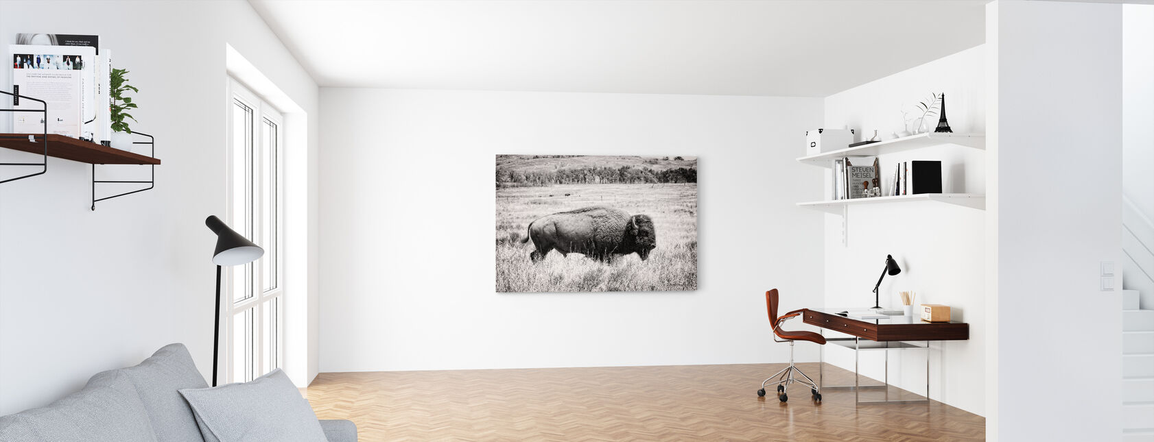Buffalo - Canvas print - Office