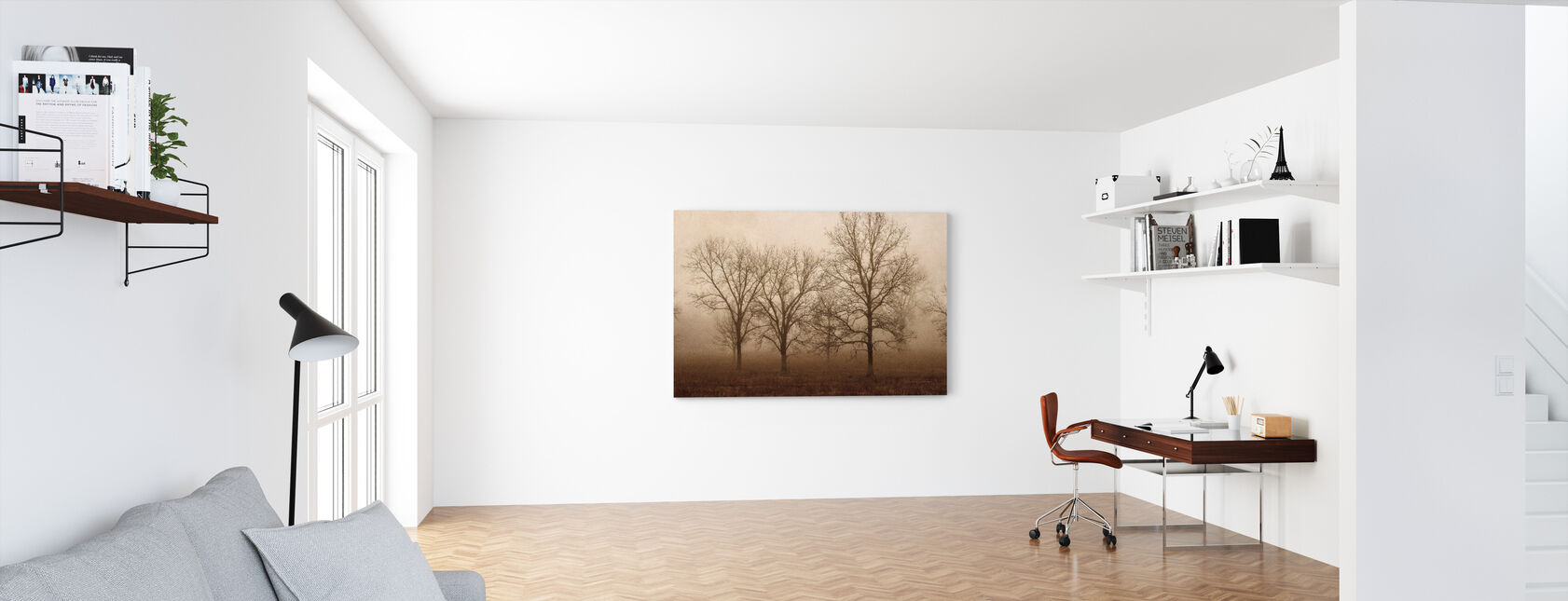 Morning Calm II - Canvas print - Office