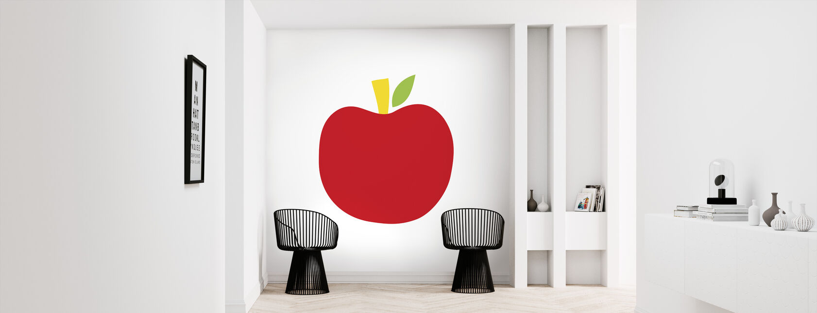 Red Apple - Wallpaper - Hallway