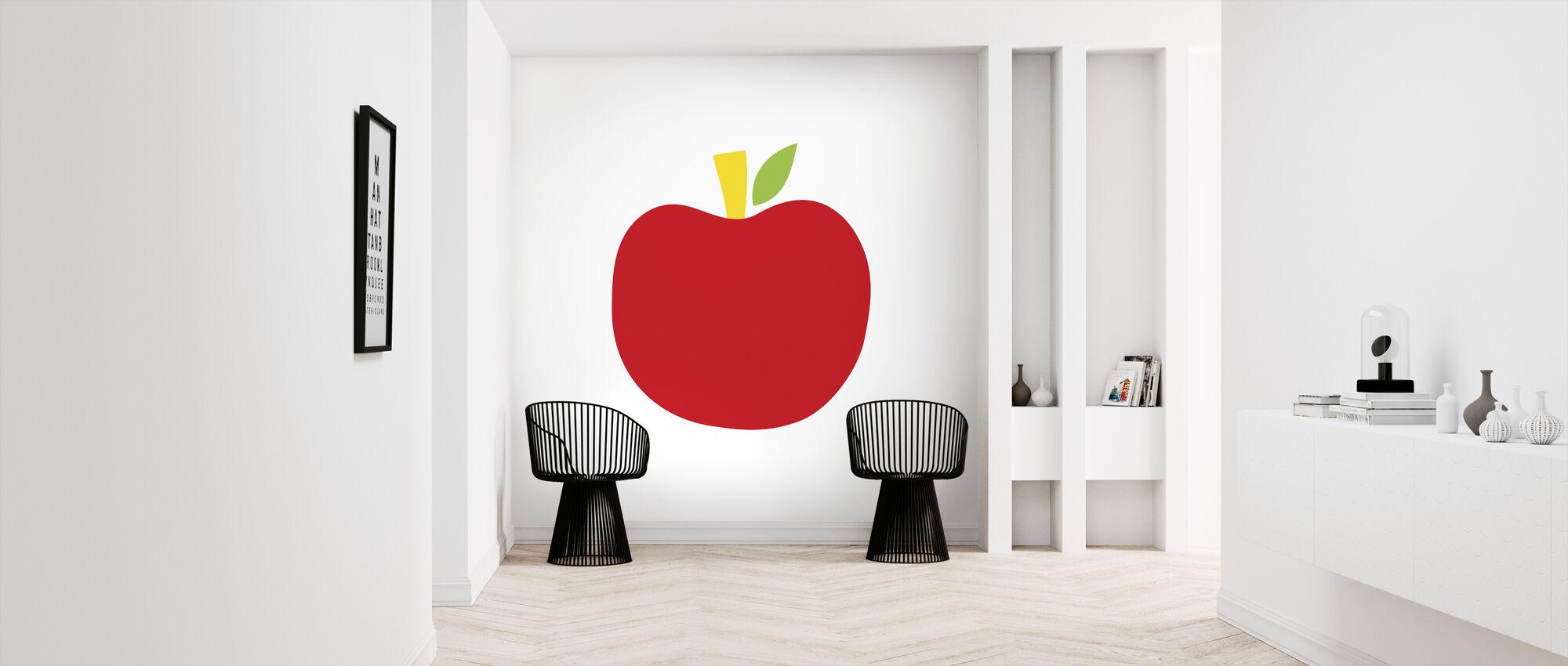 Rode Appel - Behang - Gang