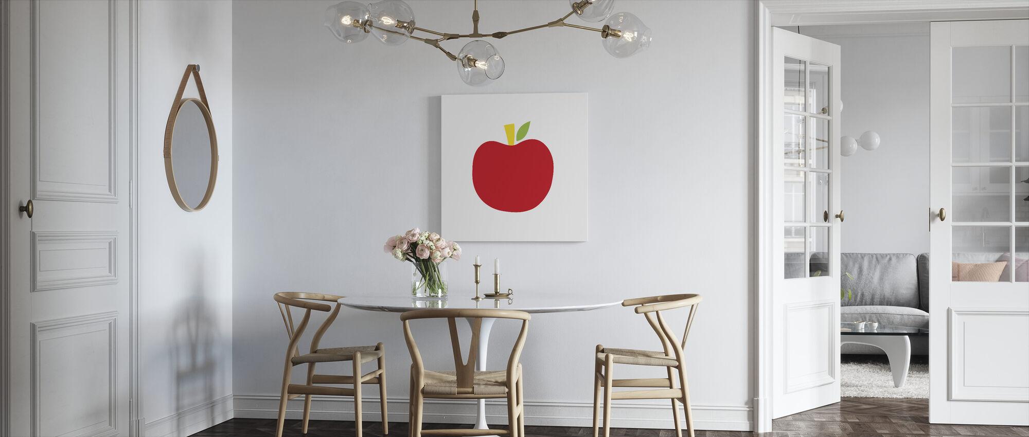 Red Apple - Canvas print - Kitchen