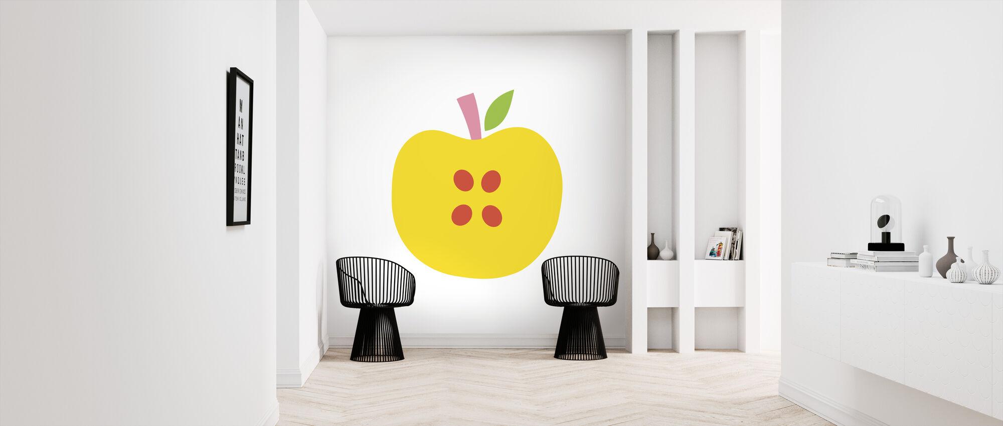 Gelber Apfel - Tapete - Flur