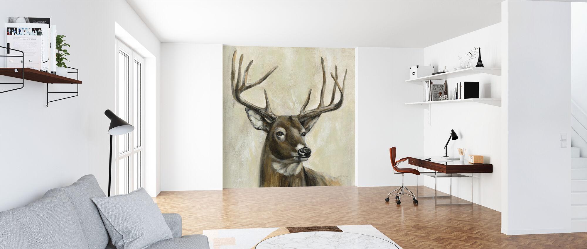 Bronze Deer - Wallpaper - Office