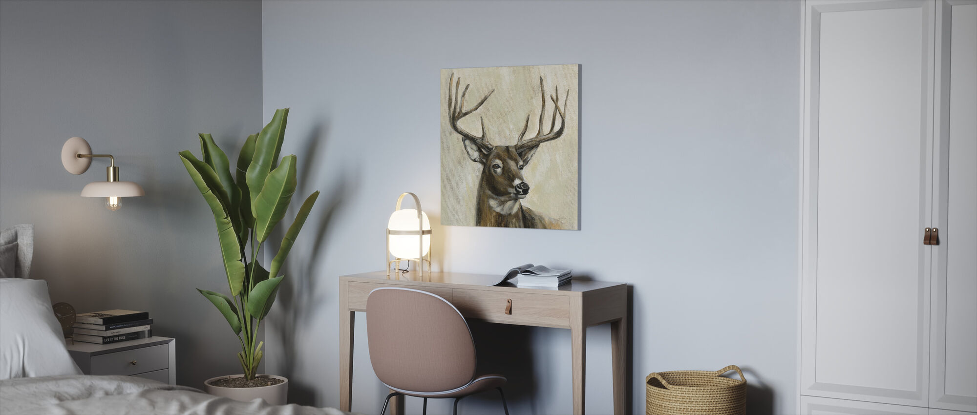Bronze Deer - Canvas print - Office