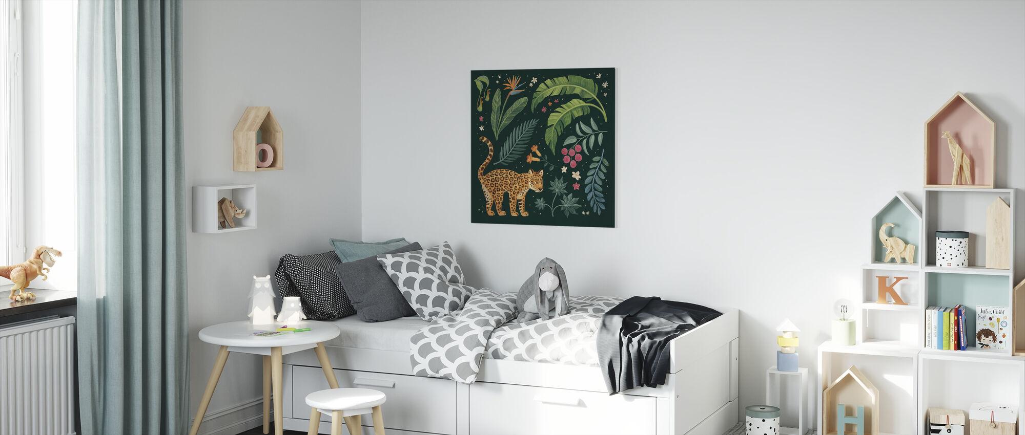 Viidakko rakkaus II - Canvastaulu - Lastenhuone