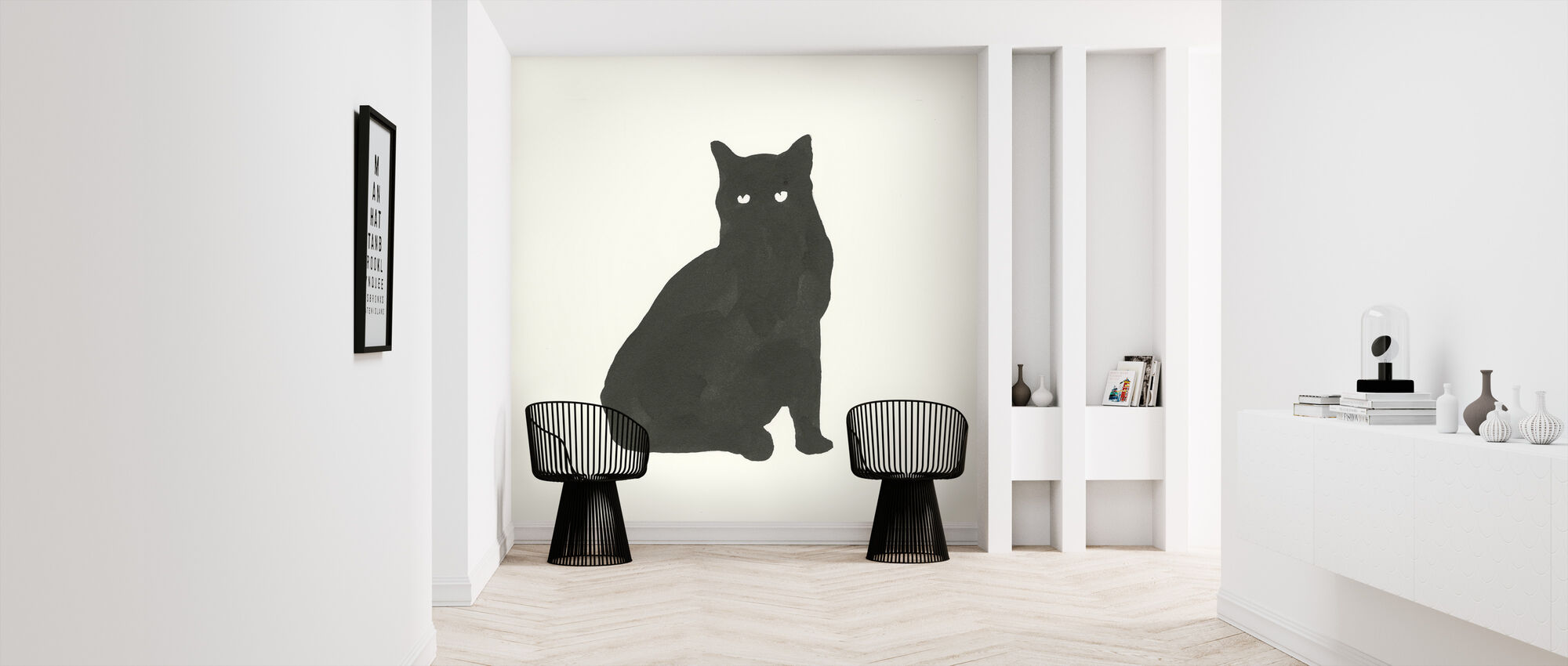 Black Cat - Wallpaper - Hallway