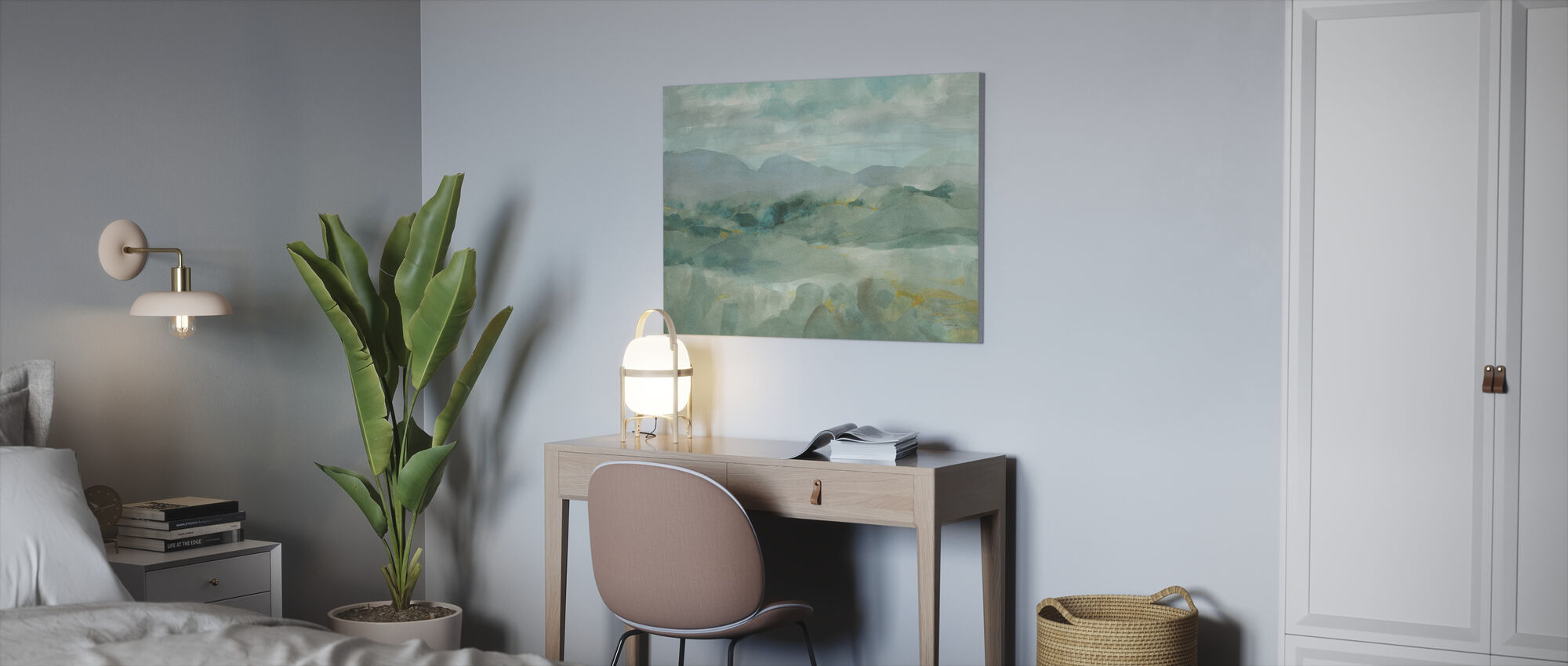 Green Mountain View - Canvas print - Office