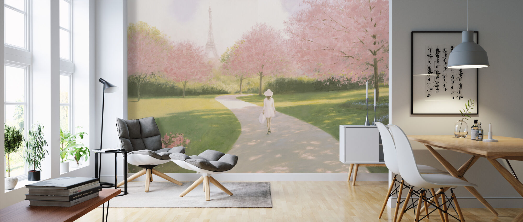 Printemps a Paris II - Wallpaper - Living Room