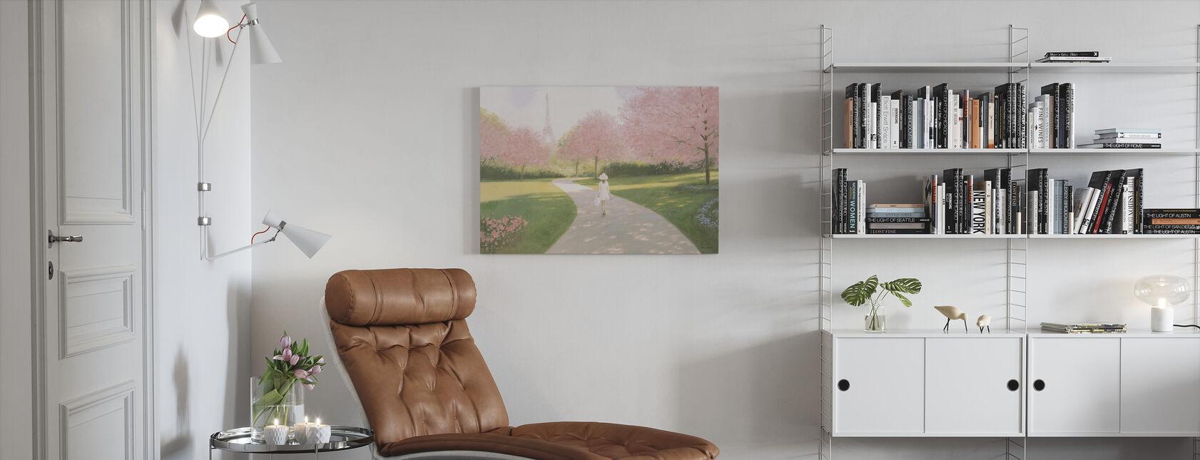Printemps a Parijs II - Canvas print - Woonkamer