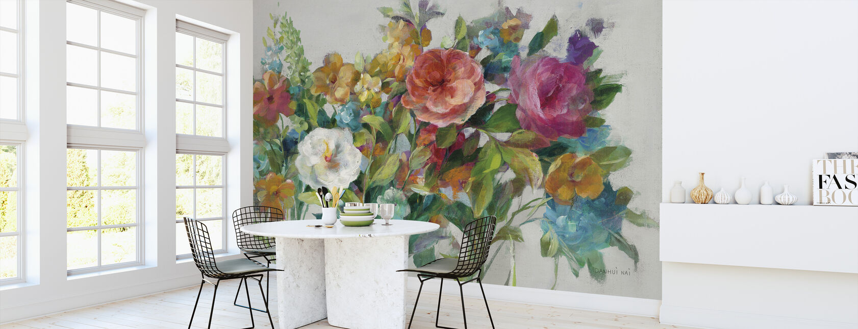 Country Florals Neutral - Wallpaper - Kitchen