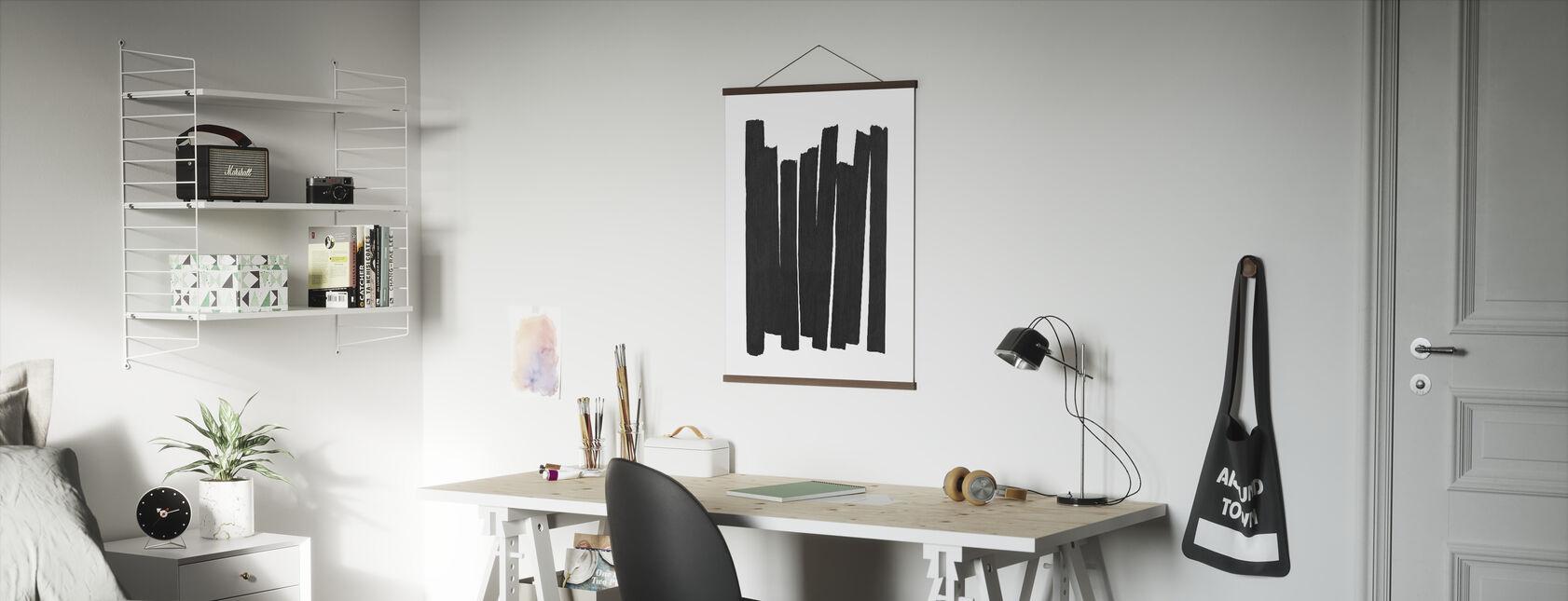 Svarta penseldrag II - Poster - Kontor