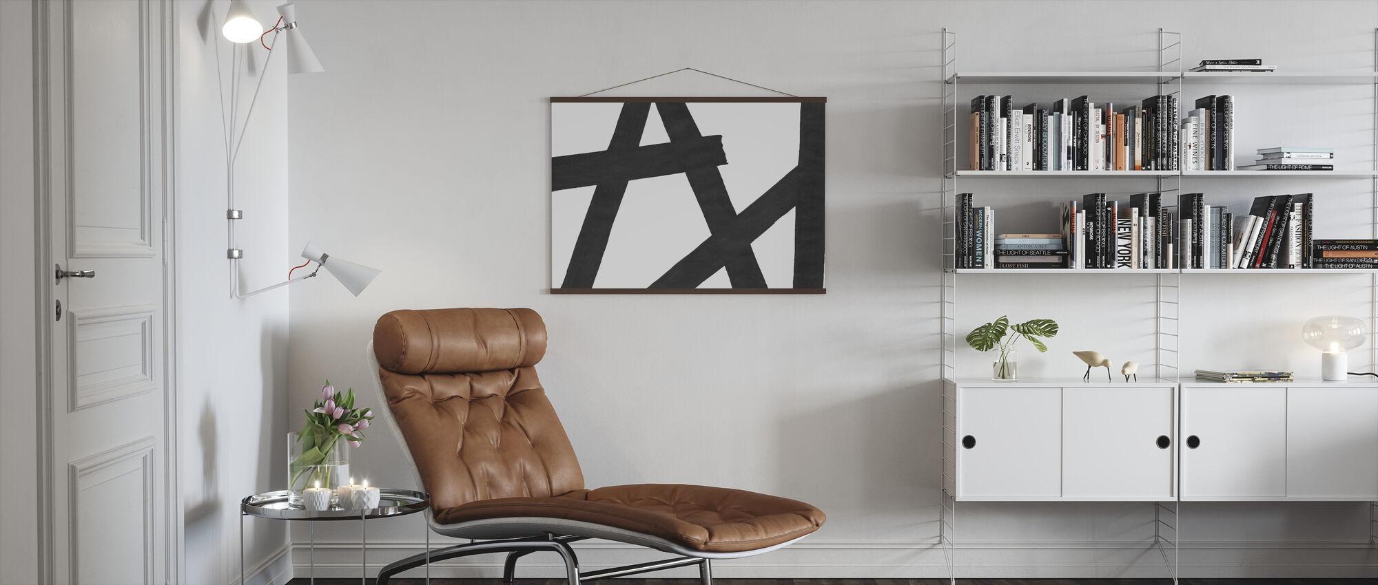 Crossing Strokes II - Poster - Living Room