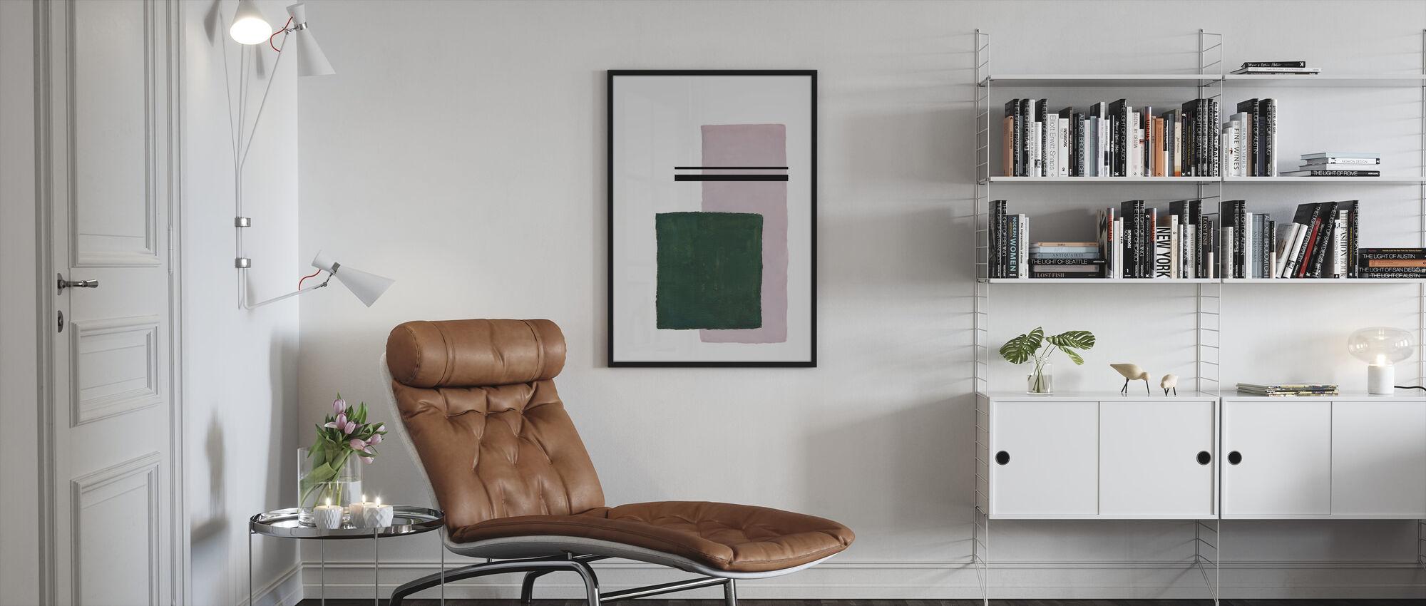 Evenwicht III - Ingelijste print - Woonkamer