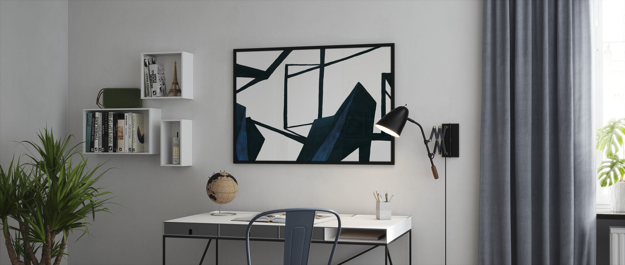 In this Room - Framed print - Office