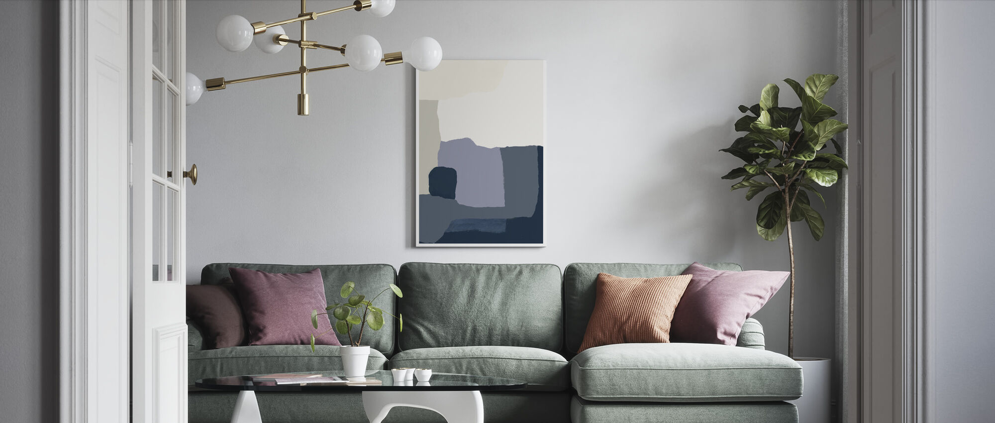Layers II - Canvas print - Living Room