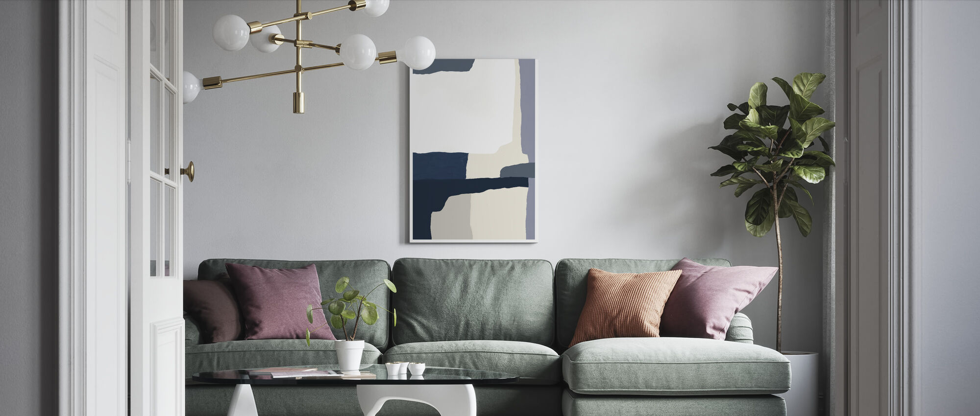 Layers - Canvas print - Living Room