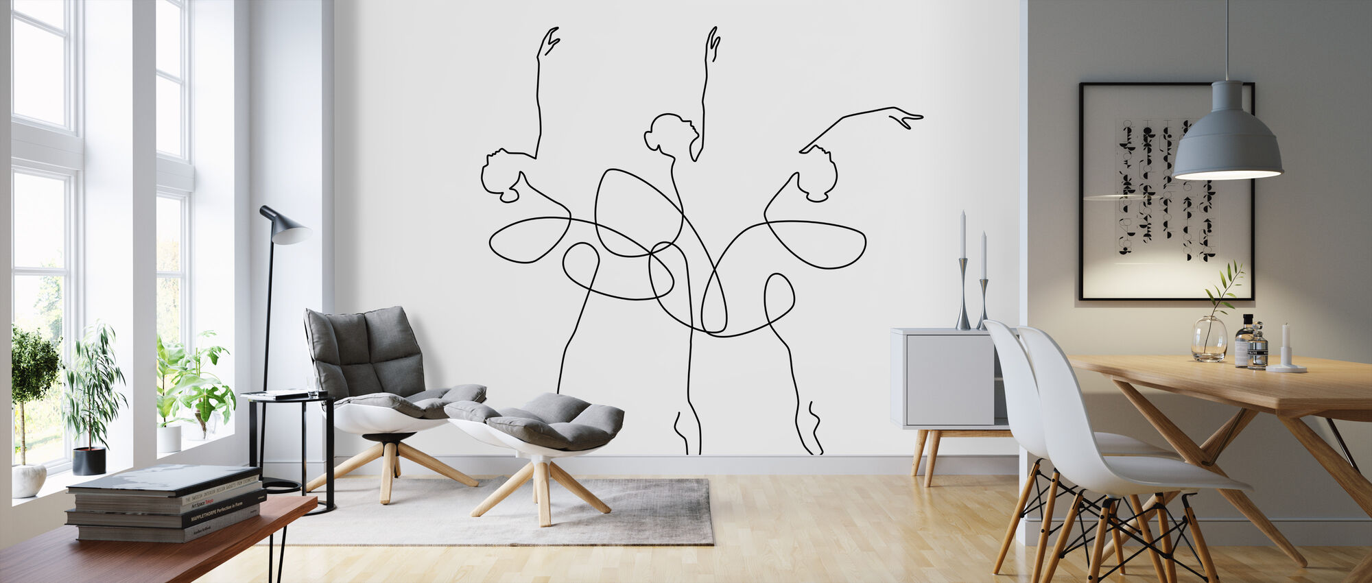 Ballet x 3 - Wallpaper - Living Room