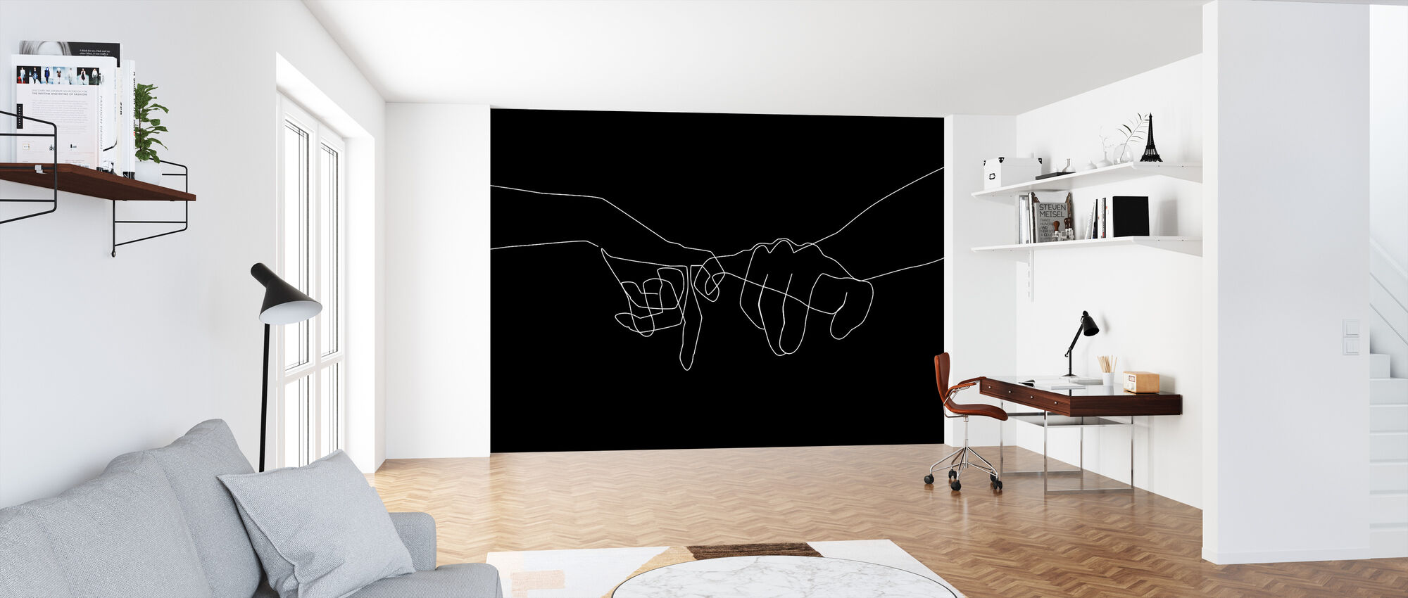 Black Pinky Swear - Wallpaper - Office