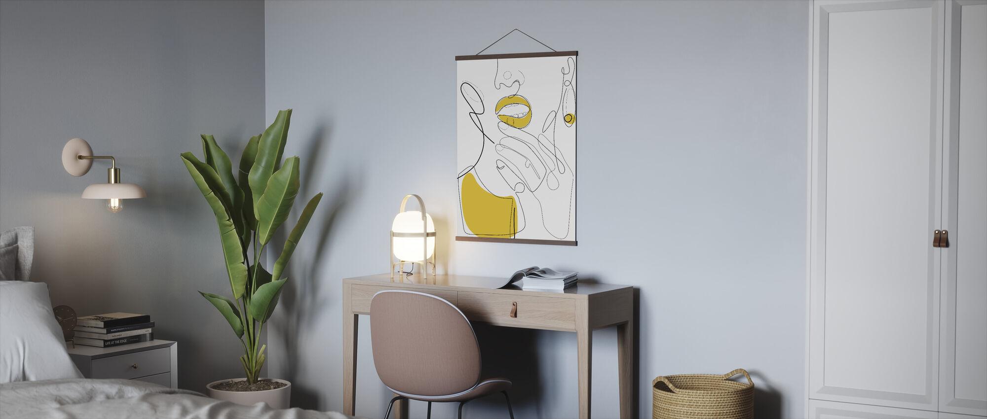 Bold Mustard Lip - Poster - Office