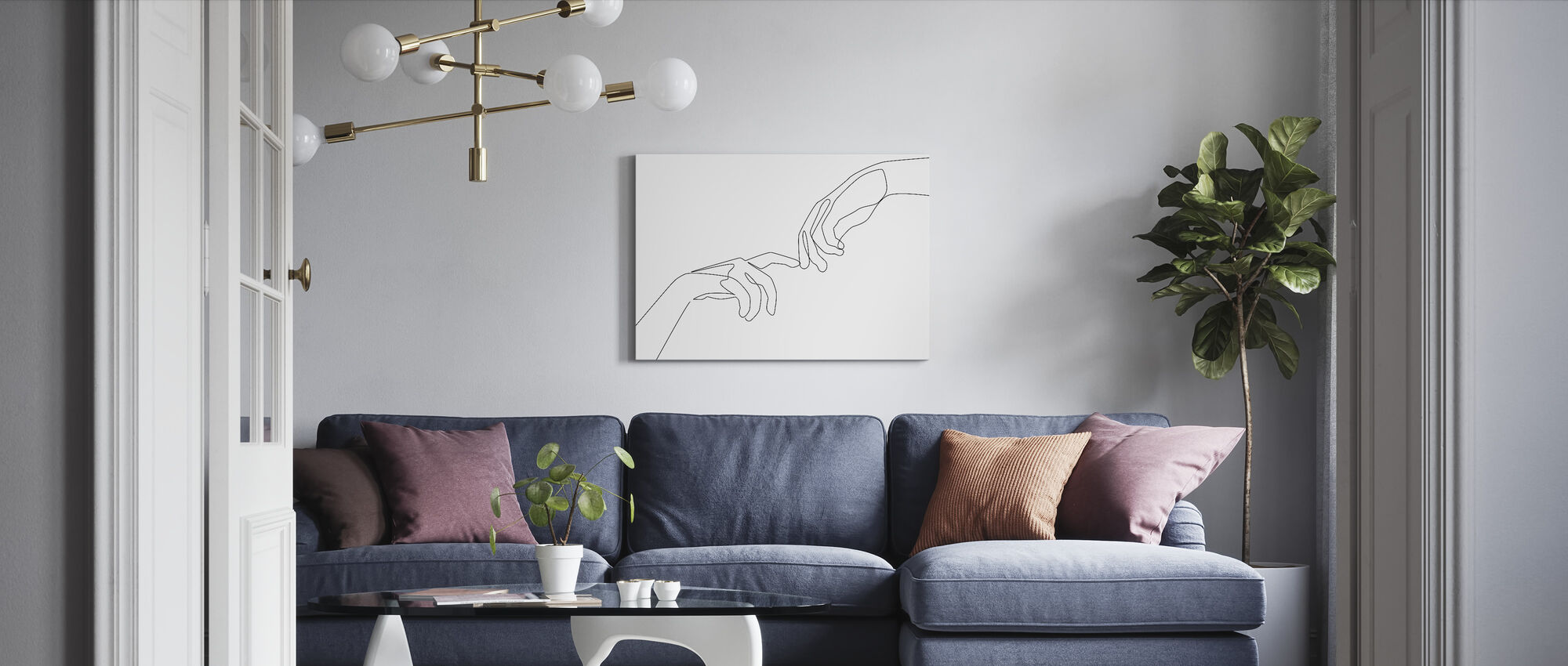 Finger touch - Canvas print - Living Room