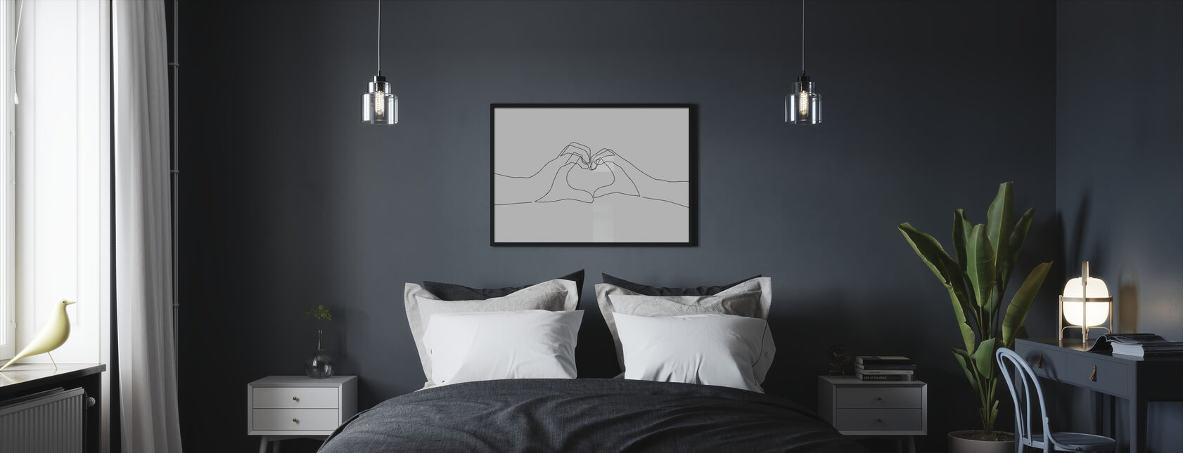 Hand Heart - Framed print - Bedroom