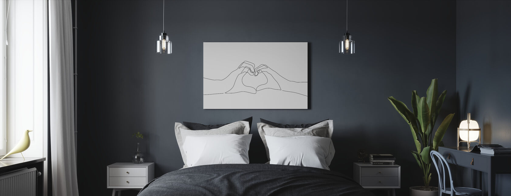 Hand Heart - Canvas print - Bedroom