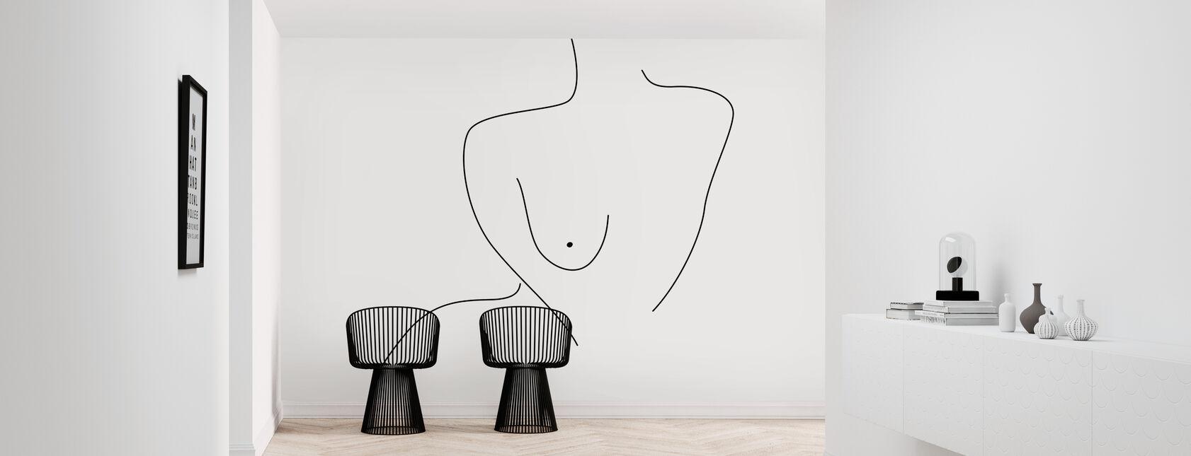 Sexual Figure Lines - Wallpaper - Hallway
