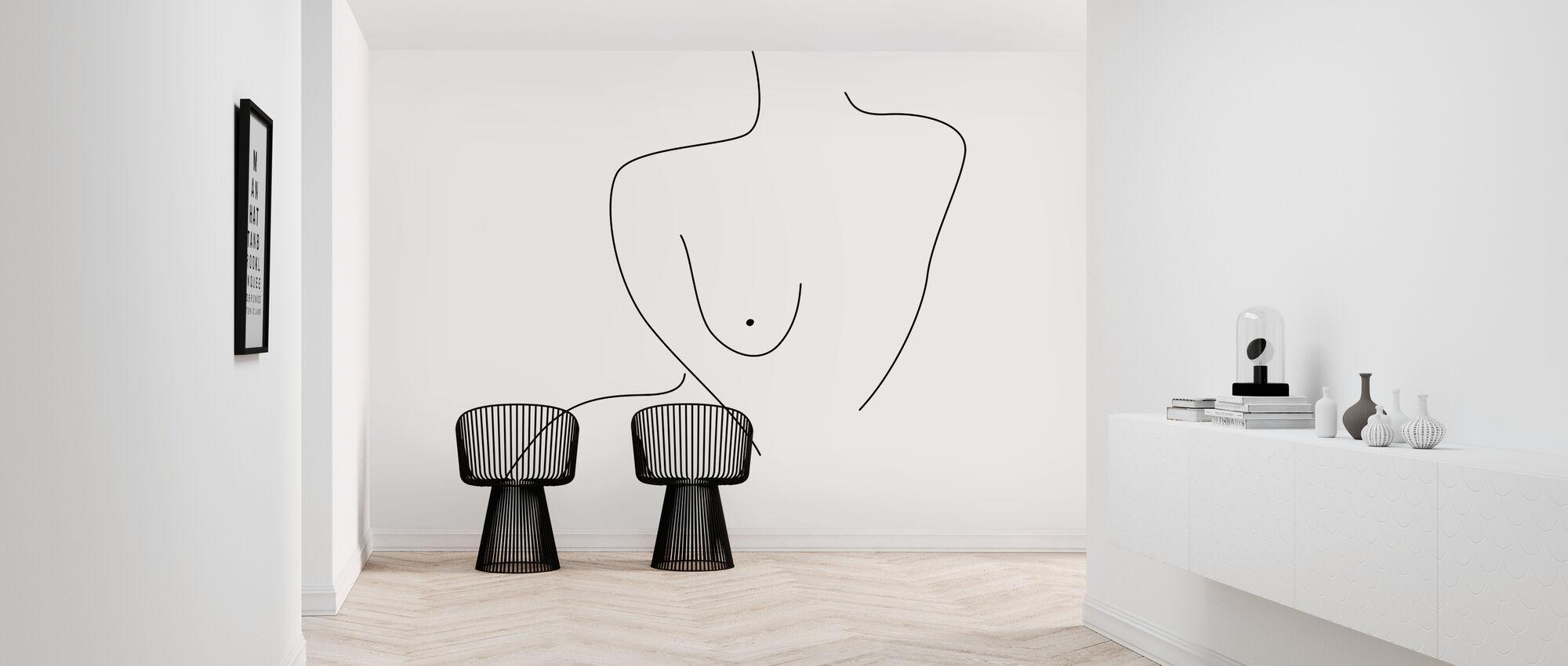 Seksuelle Figur Linjer - Tapet - Entré