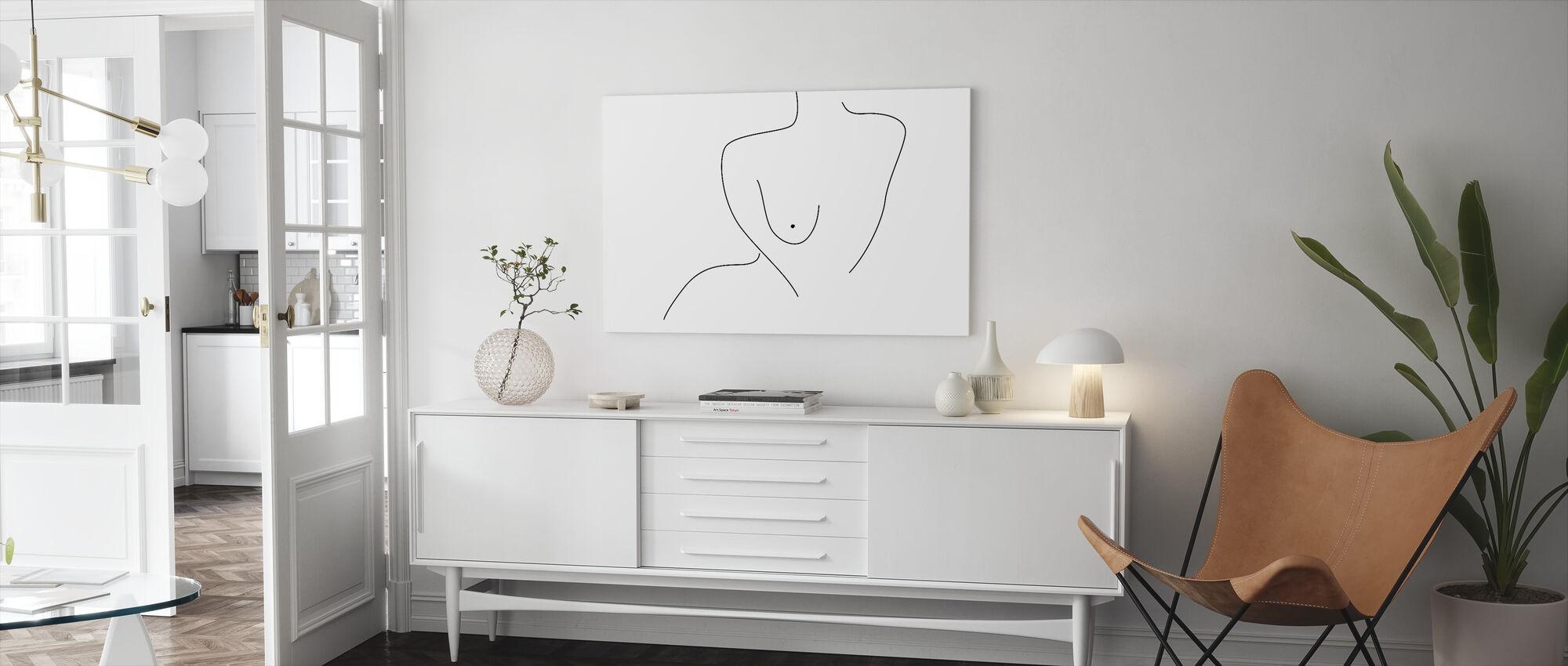 Sexual Figure Lines - Canvas print - Living Room