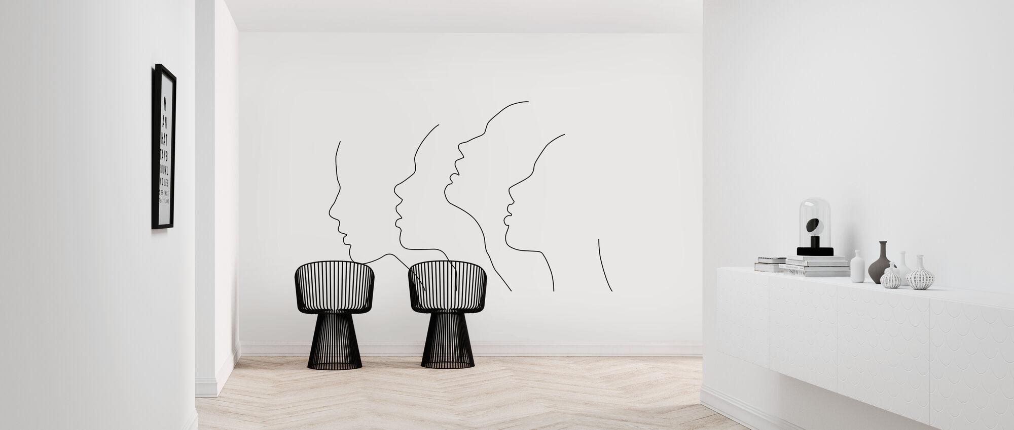 Side Faces - Wallpaper - Hallway