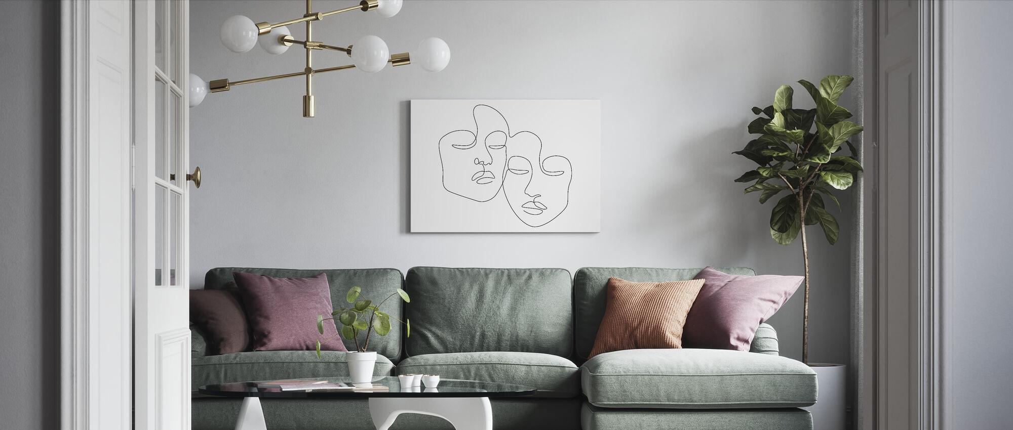 Twins - Canvas print - Living Room