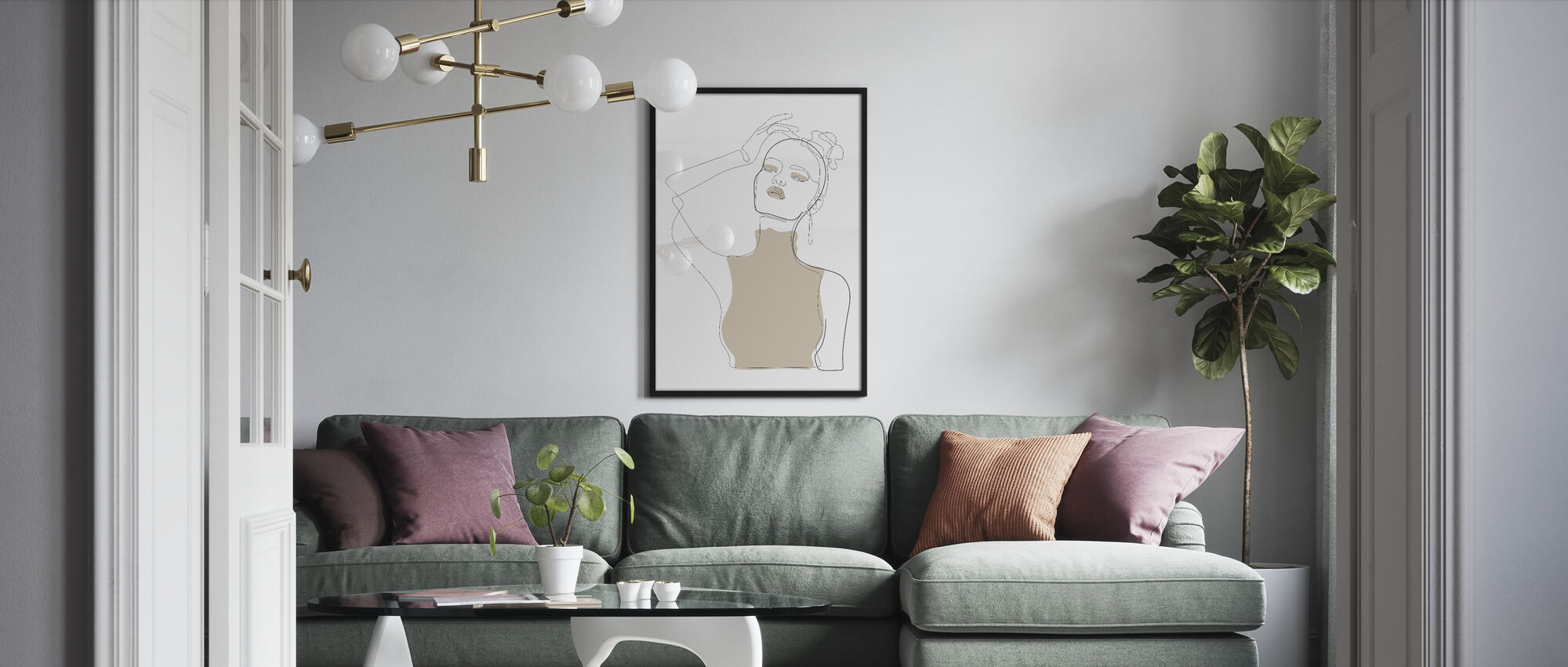 Beige Touch - Framed print - Living Room